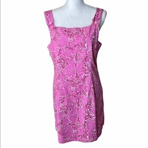 Vintage Lilly Pulitzer  Pink And White Print Dress